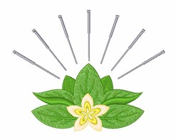Acupuncture embroidery design