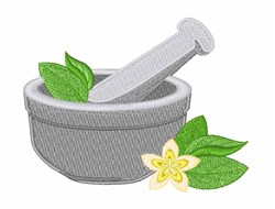 Mortar & Pestle embroidery design