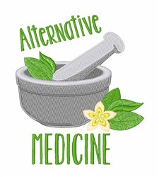 Alternative Medicine embroidery design