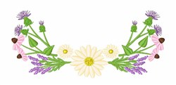 Wildflowers embroidery design
