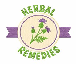 Herbal Remedies embroidery design