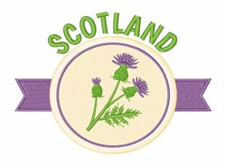 Scotland Thistle embroidery design