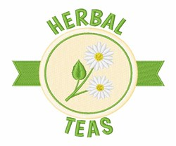 Herbal Teas embroidery design