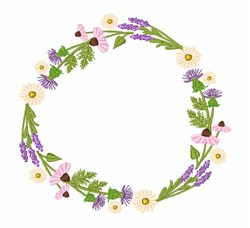 Wildflower Wreath embroidery design