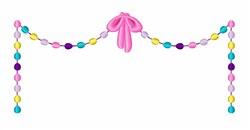 Easter Egg Banner embroidery design