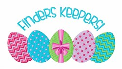 Finders Keepers embroidery design