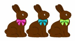 Chocolate Bunnies embroidery design