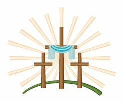 Easter Crosses embroidery design