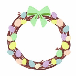 Easter Eggs Wreath embroidery design