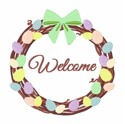 Welcome Wreath embroidery design