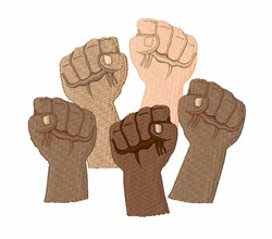 Protest Fists embroidery design
