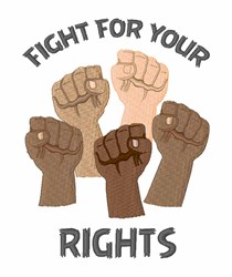 Fight For Rights embroidery design