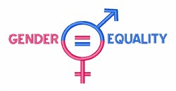 Gender Equality embroidery design