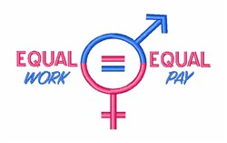 Equal Pay embroidery design