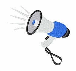 Protest Bullhorn embroidery design