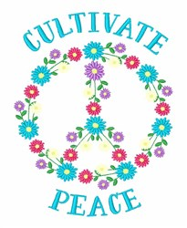 Cultivate Peace embroidery design