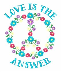 Love Is Answer embroidery design