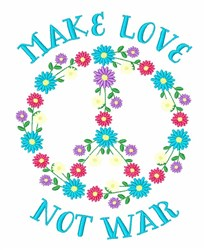 Make Love embroidery design