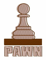 Chess Pawn embroidery design