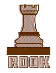 Chess Rook embroidery design