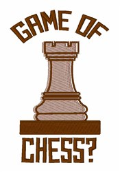 Game Of Chess embroidery design