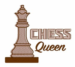 Chess Queen embroidery design