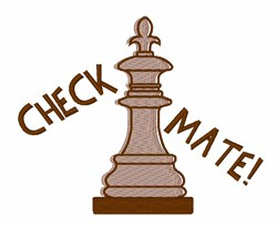Check Mate embroidery design