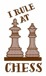 Rule At Chess embroidery design
