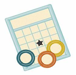 Bingo Game embroidery design