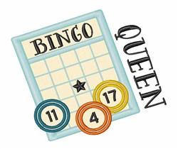Bingo Queen embroidery design