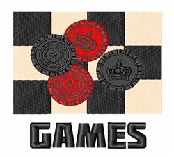 Games embroidery design