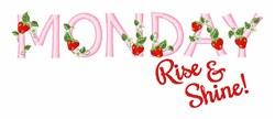 Rise & Shine embroidery design