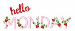 Hello Monday embroidery design