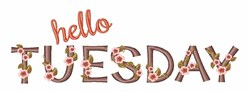 Hello Tuesday embroidery design