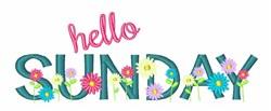 Hello Sunday embroidery design