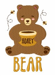 Honey Bear embroidery design