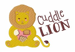 Cuddle Lion embroidery design