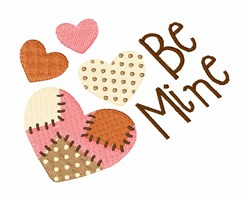 Be Mine Hearts embroidery design