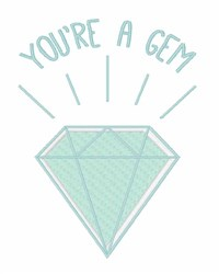 Youre A Gem embroidery design