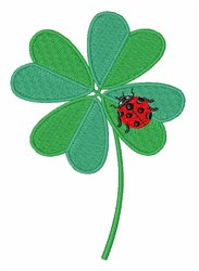 Clover Ladybug embroidery design