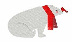Winter Polar Bear embroidery design