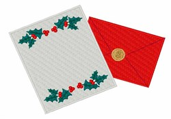 Christmas Letter embroidery design
