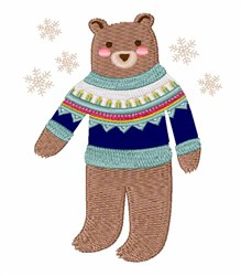Winter Bear embroidery design