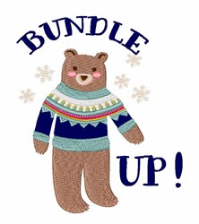 Bundle Up embroidery design