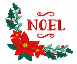 Noel Poinsettia embroidery design