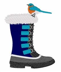 Boot Bluebird embroidery design