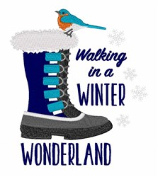 A Winter Wonderland embroidery design