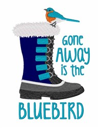 The Bluebird embroidery design