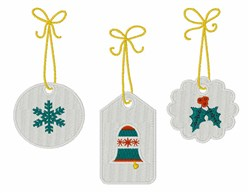 Christmas Tags embroidery design