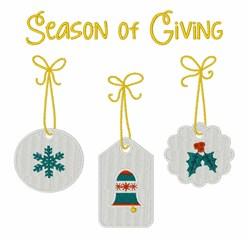 Season Of Giving embroidery design